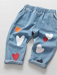 cheap -Toddler Girls' Basic Solid Colored Jeans