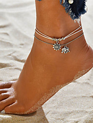 cheap -Layered Anklet - Elephant, Sun Vintage, Bohemian, Tropical White For Gift / Bikini / Women's