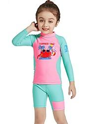 abordables -Fille Combinaison Fine Protection UV contre le soleil, Séchage rapide, UPF50+ Nylon / Spandex Manches Longues Maillots de Bain Tenues de plage Combinaisons / Tee-shirts anti-UV, tops thermiques