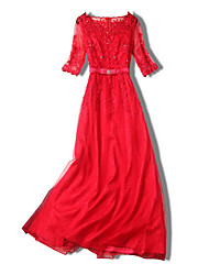 abordables -Femme Sortie Mince Gaine Robe Midi