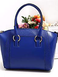 cheap -Women's Bags PU(Polyurethane) Tote Zipper Dark Green / Fuchsia / Royal Blue