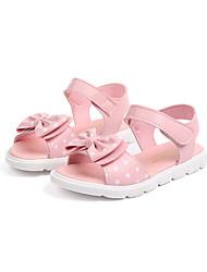 abordables -Fille Chaussures Polyuréthane Printemps été Confort Sandales Scotch Magique pour Blanc / Rose