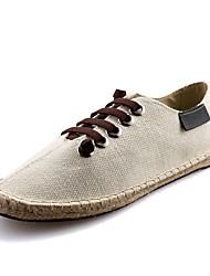 Недорогие -Муж. Полотно Весна Удобная обувь Кеды Белый / Черный / Синий
