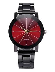 Недорогие -Для пары Наручные часы Кварцевый Нержавеющая сталь Черный / Серебристый металл Секундомер Творчество Повседневные часы Аналоговый Классика Мода Цветной -  / Один год