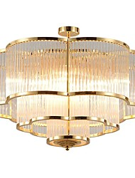 cheap -QIHengZhaoMing 10-Light Crystal Chandelier Ambient Light 110-120V / 220-240V, Warm White, Bulb Included / 15-20㎡