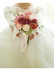 economico -Bouquet sposa Bouquet Matrimonio / Ricevimento di matrimonio Raso / Stoffe 11-20 cm