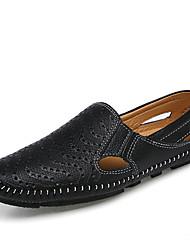 Недорогие -Муж. Обувь для вождения Наппа Leather Лето Удобная обувь Мокасины и Свитер Белый / Черный / Коричневый