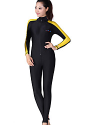 cheap -Dive&Sail Women's Rash Guard Dive Skin Suit SPF50, UV Sun Protection, Thermal / Warm Tactel / Elastane Full Body Swimwear Beach Wear Diving Suit Patchwork Front Zip Swimming / Diving / Snorkeling