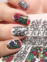 abordables -5 pcs Décalques pour ongles Autocollant pour ongles Nail Art Design Design Tendance Usage quotidien / Festival