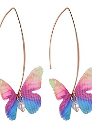 cheap -Women's Drop Earrings - Imitation Pearl Butterfly Stylish Light Yellow / Red / Light Blue For Birthday / Daily