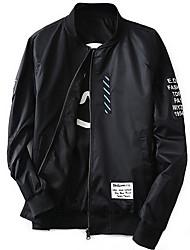 Недорогие -Муж. Куртка Армия - Однотонный