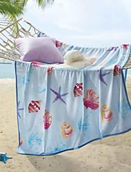 Недорогие -Коралловый флис, С принтом С принтом Полиэфир / полиамид одеяла