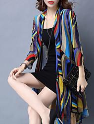 economico -Cloak / Capes Per donna A strisce / Monocolore, A V / Estate