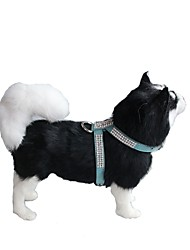 baratos -Cachorros / Coelhos / Gatos Coleiras de Adestramento para Cães / Arreios / Trelas Portátil / Mini / Treinador Mosaico Couro PU / Couro de Poliuretano Verde / Azul / Rosa claro
