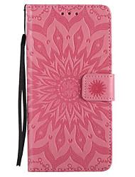 Недорогие -Кейс для Назначение Apple iPhone X / iPhone 8 / iPhone XS Кошелек / Бумажник для карт / со стендом Чехол Цветы Твердый Кожа PU для iPhone XS / iPhone XR / iPhone XS Max