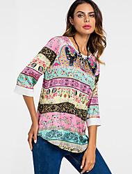 economico -T-shirt Per donna Essenziale Fantasia geometrica