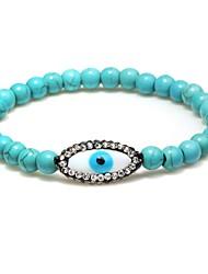 cheap -Women's Cubic Zirconia Strand Bracelet - Drop, Eyes Bohemian, Sweet, Boho Bracelet Black / Turquoise For Gift Birthday