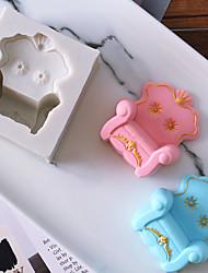 Недорогие -Инструменты для выпечки Силикон Праздник / 3D в мультяшном стиле / Креатив Шоколад / Для приготовления пищи Посуда / Для торта Прямоугольный Формы для пирожных 1шт