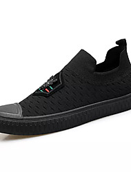 cheap -Men's Knit / Elastic Fabric Summer Comfort Loafers & Slip-Ons Black