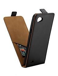 Недорогие -Кейс для Назначение LG Q6 Бумажник для карт / Флип Чехол Однотонный Твердый Кожа PU для LG Q6