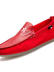 abordables -Homme Chaussures Polyuréthane Automne Moccasin / Chaussures de plongée Mocassins et Chaussons+D6148 Blanc / Noir / Rouge