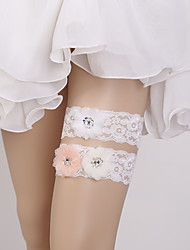 cheap -Lace Fashion / Bridal Wedding Garter With Floral Garters Wedding / Special Occasion