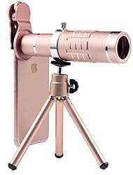 Недорогие -Объектив для мобильного телефона Широкоугольный объектив Алюминиевый сплав Макрос 18X 3 m 70 ° Линза / объектив со стендом