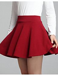 cheap -women's going out mini a line skirts - solid colored high waist