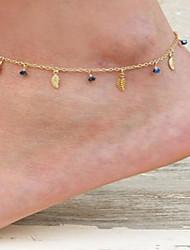 Недорогие -Кристалл Ножной браслет - В форме листа лакомство, Винтаж, Мода Золотой / Серебряный Назначение На выход Бар Жен.
