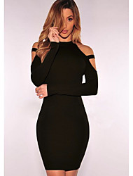 cheap -Women's Skinny Bodycon Dress Halter Neck