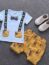 cheap -Baby Boys' Print Short Sleeve Clothing Set