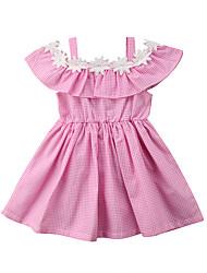 Недорогие -Дети Девочки Геометрический принт Без рукавов Платье