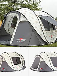 abordables -6 personnes Tentes de Randonnée Unique Automatique Dôme Tente de camping Extérieur Léger pour Camping / Randonnée / Spéléologie / Voyage 1500-2000 mm Tissu Oxford 283*213*125 cm
