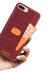Недорогие -Кейс для Назначение Apple iPhone X / iPhone 8 Pluss / iPhone 8 Бумажник для карт Кейс на заднюю панель Однотонный / Полосы / волосы Твердый Кожа PU
