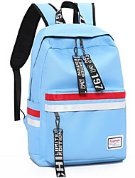 cheap -Unisex Bags Nylon School Bag Pattern / Print Dark Blue / Gray / Purple