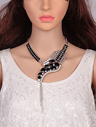 cheap -Women's Cubic Zirconia Mismatched Choker Necklace / Chain Necklace / Statement Necklace - Snake Statement, European, Trendy Silver, Rainbow, Dark Gray 52+9 cm Necklace 1pc For Party, Street