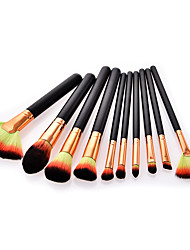 cheap -10-Pack Makeup Brushes Professional Make Up Nylon fiber Professional / Comfy Wooden / Bamboo