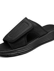 povoljno -Muškarci Cipele Platno / Pamuk Ljeto Udobne cipele Papuče i japanke Crn / Crno-bijeli