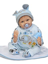 cheap -NPKCOLLECTION Reborn Doll Baby Boy 24 inch Silicone - Artificial Implantation Blue Eyes Kid's Boys' Gift