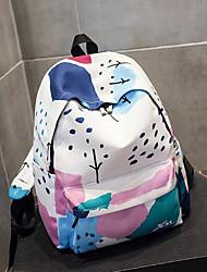 cheap -Women's Bags Canvas School Bag Pattern / Print Blue / White