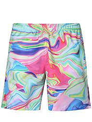 cheap -Men's Bottoms - Color Block Print Swim Trunk