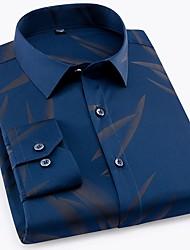 お買い得  -男性用 プリント シャツ ベーシック ソリッド / 幾何学模様