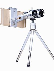Недорогие -Объектив для мобильного телефона Макролинза / Другое Алюминиевый сплав Макрос 12X 3 m 70 ° Линза / объектив со стендом