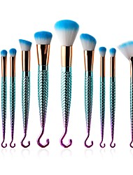 cheap -10-Pack Makeup Brushes Professional Makeup Brush Set / Eyeshadow Brush / Eyeliner Brush Nylon fiber / Fiber Professional / Eliminate wetness, odor and ensures your feet are dry and comfortable. / Soft