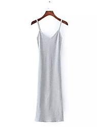 Недорогие -Жен. Тонкие Оболочка Платье На бретелях До колена