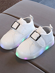 cheap -Boys' / Girls' Shoes PU(Polyurethane) Fall & Winter Comfort / Light Up Shoes Sneakers Buckle / LED for Kids / Baby White / Black / Pink