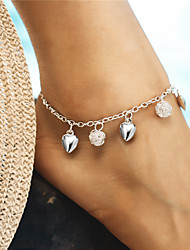 cheap -Anklet - Heart, Ball Fashion, Elegant Silver For Gift / Holiday / Women's