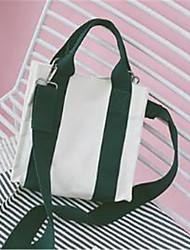 baratos -Mulheres Bolsas Tela de pintura Bolsa de Ombro Ziper Rosa / Amarelo / Verde Escuro