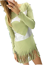 billige -Dame I-byen-tøj Bomuld Tynd T Shirt Kjole Knælang