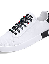 cheap -Men's Canvas / Tulle Summer Comfort Sneakers Color Block Red / Black / White / White / Green